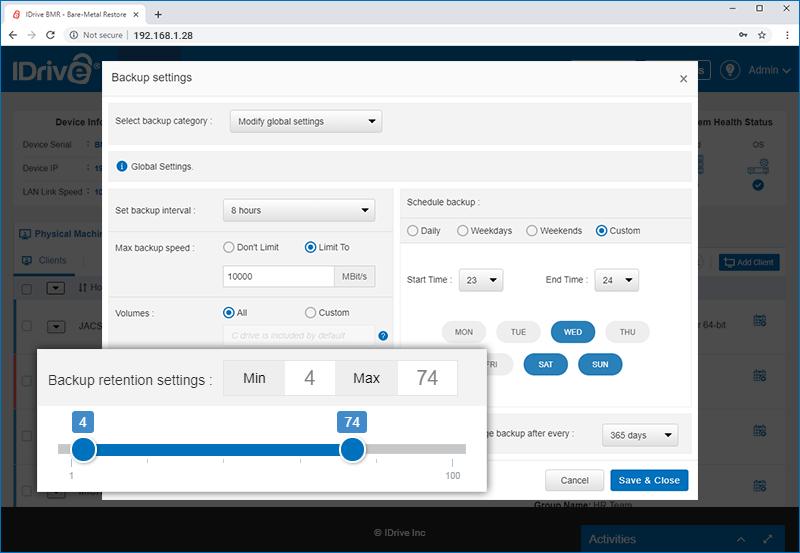 Monitor storage utilization