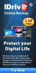 IDrive Online Backup - PC, Mac, iPhone, and BlackBerry