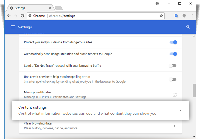Managing Cookie Settings For Google Chrome Idrive