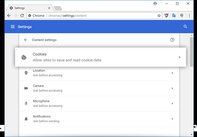 Managing Cookie Settings For Google Chrome – IDrive®