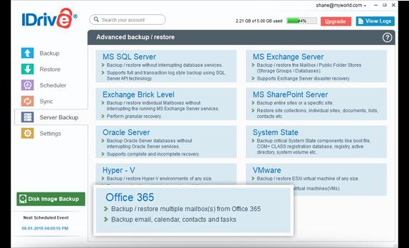 Office 365 Exchange Mailbox Backup