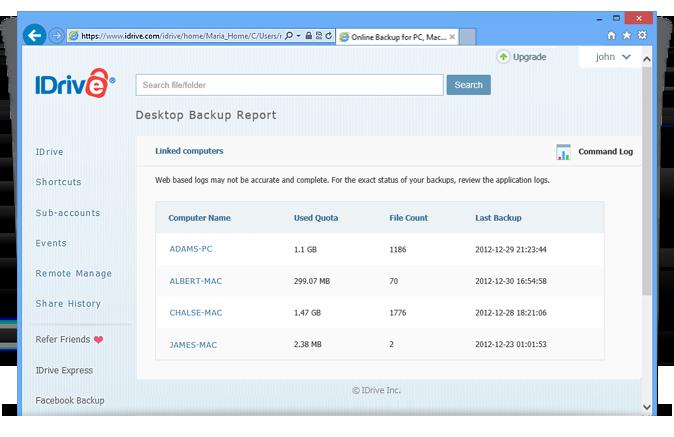 Backup Status Report